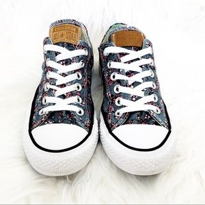 Converse All Star Floral Sneakers Size 7